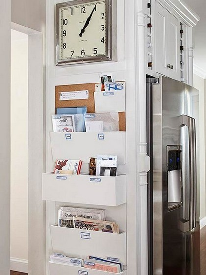 12-notice-note-memory-board-family-chore-organizer-idea-clock-pockets-newspapers-wall