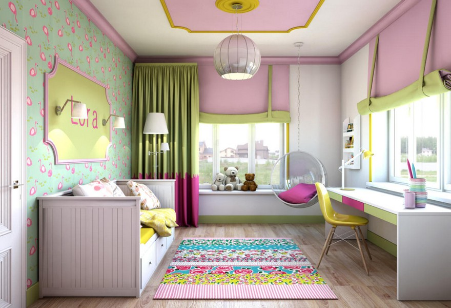 4 Light Pink School Girlu0027s Kidu0027s Room Interior