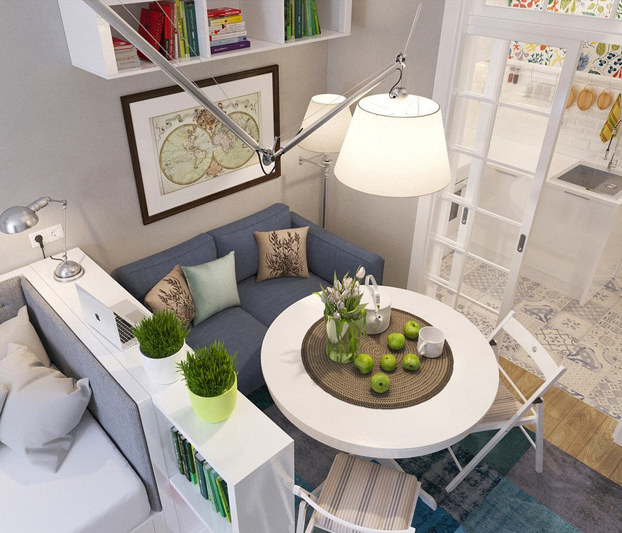 Studio Apartment: How To Make Most Of Just 25 Square Meters? Narrow & Small