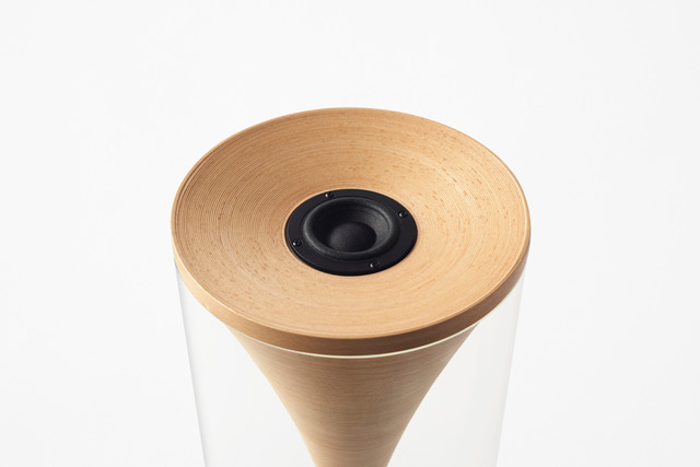 3-Bonaco-new-natural-wood-beech-speakers-eco-friendly-transparent-plastic-acrylic-cover-cylinder