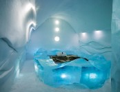 The hotel made of ice and snow in Sweden