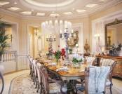 The interior a luxury villa in Qatar