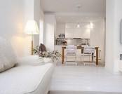 Snow-white Scandinavian style in the interior