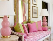 Delicate pink color in the interior