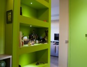 """Apartment with Predominance of Green Color, Kitchen Tiles Brought from All Over the World and a """"Moo..."""