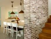 Brick wall interior design in the interior