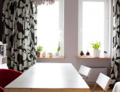 Cheap and Cheerful Apartment with Extraordinary Interior Items: a Plywood Table, a Chandelier of Spo...