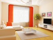 10 bright living room in orange