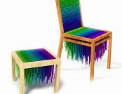 Chairs of the bright laces Baita