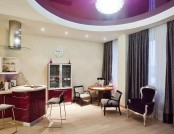 Studio Apartment Furnished with Eclectic Items and Integrated by Wine Red Color Range