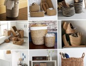 A beautiful Picture of wicker baskets for the family