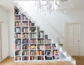 Shelves and tables for storing books and magazines