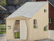Small eco-house made of wood