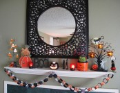 10 ideas to decorate a fireplace in Halloween