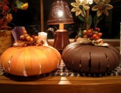 Paper and beautiful pumpkin for Halloween