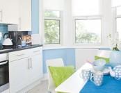 White modern kitchen in the interior