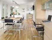 Kitchen combined with living room