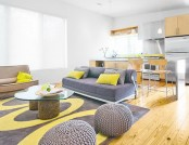 Interiors with gray and inviting sofas