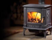 Wood-burning stoves in the interior
