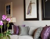 10 interiors in purple color