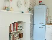 Bright kitchen in retro style