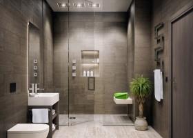 Gray bathroom by Bijou Bathrooms