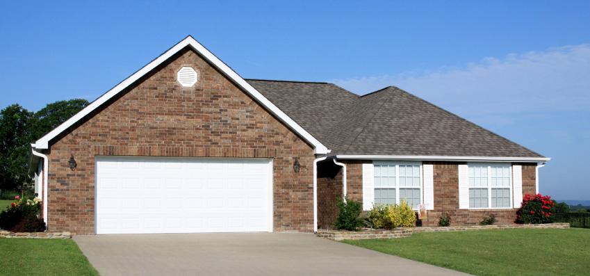 Home with Garage Door