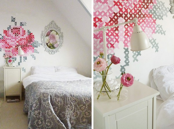 0-cross-stitch-pattern-in-interior-design-wall-painting-decor-provence-style
