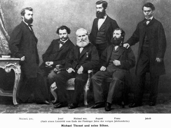 1-bentwood-chair-michael-thonet-sons-family-portrait