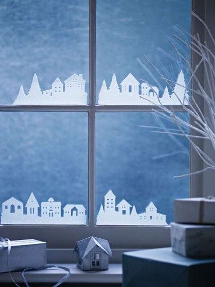 1-christmas-window-decorations-paper-town