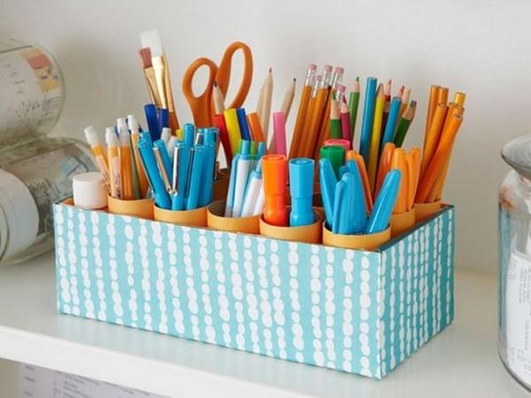 1-diy-shoe-box-reuse-idea-marker-pencil-pen-organizer-caddy