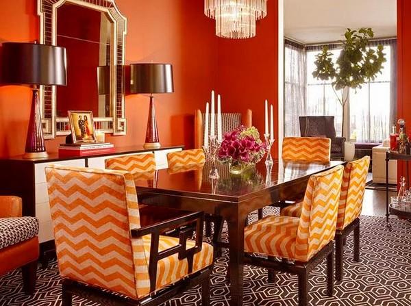 1-orange-color-in-dining-room-interior-design