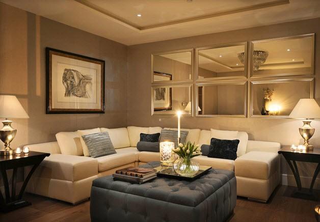 1-plastic-mirror-wall-panels-in-the-iving-room-beige