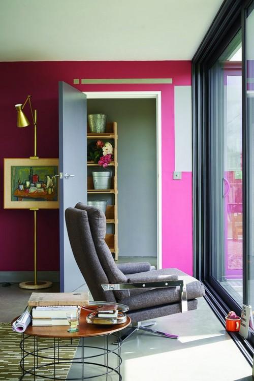 1-trendy-interior-color-spring-2017-farrow-and-ball-Radicchio-pink-walls-gray-door