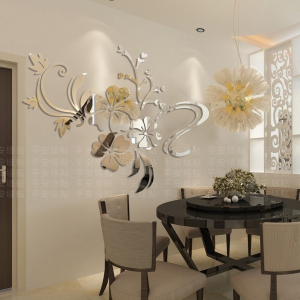 10-mirror-wall-stickers-decor-dining-room-flower-pattern