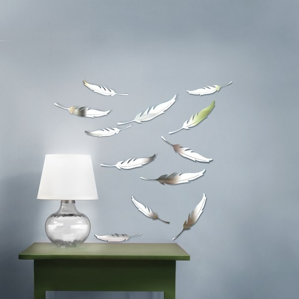 11-mirror-wall-stickers-decor-feathers-lamp