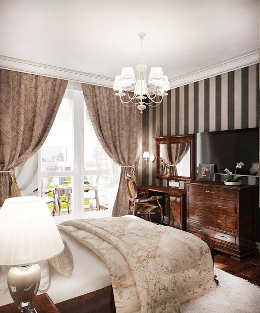 11-neo-classical-style-pastel-bedroom-strip-wallpaper-chest-of-drawers-dressing-table