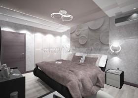 11-tortora-dove-gray-interior-bedroom-futuristic-lamp-3D-wall-panel-decor-built-in-closet
