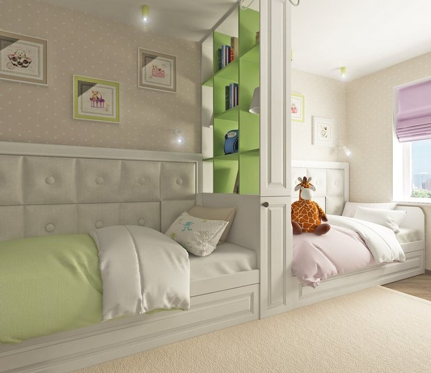 12-neutral-neo-classical-interior-kids-bedroom-boy-and-girl-white-light-green-lilac-zones