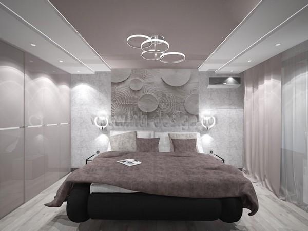 12-tortora-dove-gray-interior-bedroom-futuristic-lamp-3D-wall-panel-decor-built-in-closet
