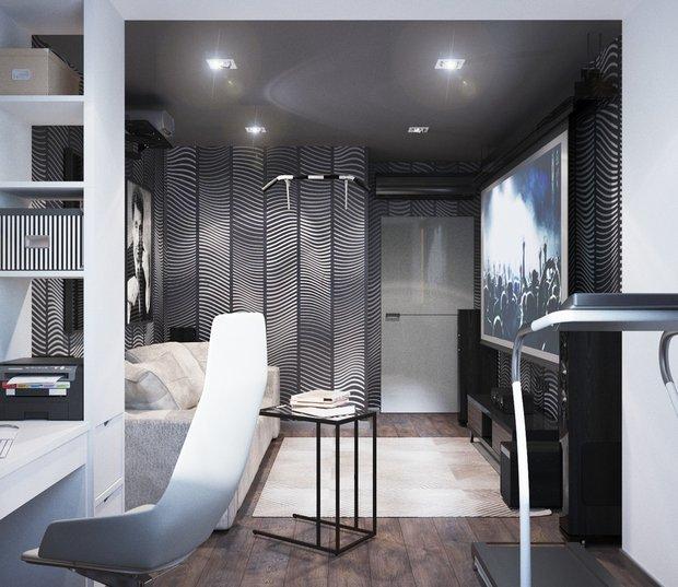 13-gray-beige-brown-interior-for-man-home-cinema-work-space-dark-wallpaper