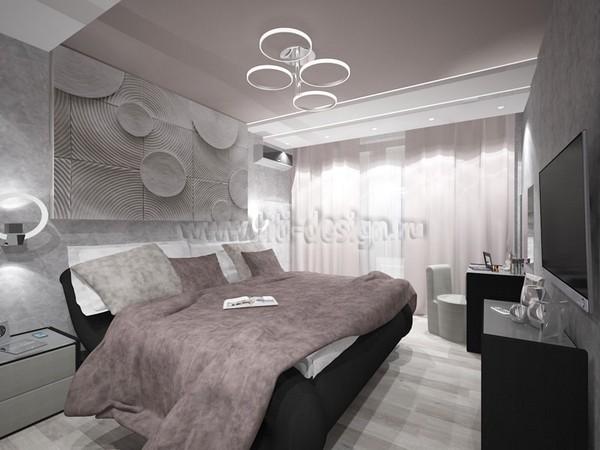 13-tortora-dove-gray-interior-bedroom-futuristic-lamp-3D-wall-panel-decor-built-in-closet