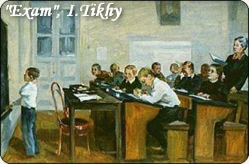 18-bentwood-chair-in-old-interior-soviet-painting-boy-at-school-exam