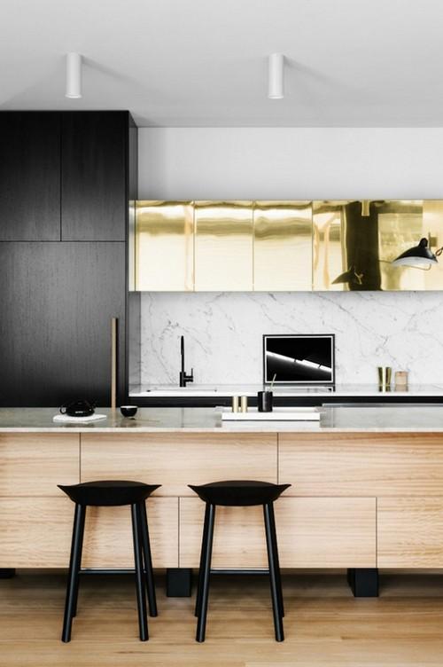 19-golden-elements-gold-in-interior-design-minimalistic-kitchen-cabinets