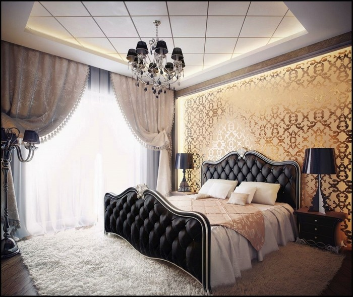 2-mirror-mirror-effect-wallpaper-bedroom-gorgeous-chic-interior