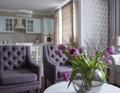 Lilac and Beige: Restrained Traditional Apartment