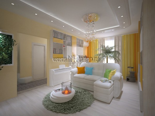 2-tropical-island-style-bright-interior-living-room-bio-fireplace-yellow-curtains-blinds-multicolor-couch-pillows-stretch-ceiling