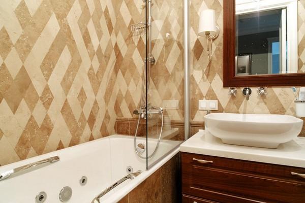 20-English-interior-style-bathroom-rombus-diamond-shaped-marble-wall-tiles-double-wash-basin (2)