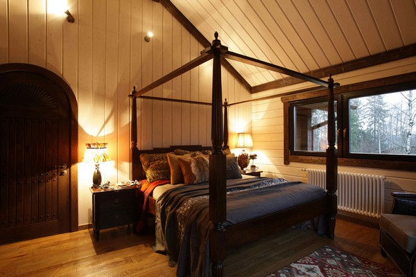 22-vintage-american-country-style-wooden-house-bedroom-arch-shaped-mahogany-redwood-doors