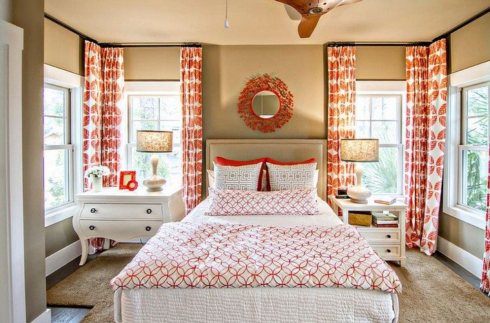 3-mismatched-different-nighstands-bedside-tables-red-white-provence-style